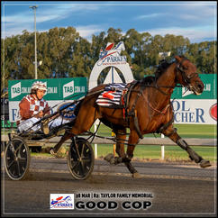 GOOD COP wins at the Parkes Trots