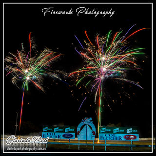 Fireworks Photography at Parkes Harness Racing Club