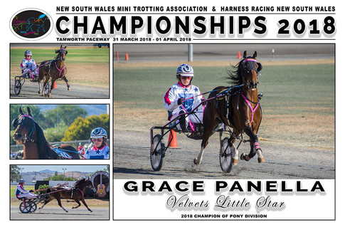 NSW Mini Trots Championships 2018 - GRACE PANELLA with VELVETS LITTLE STAR