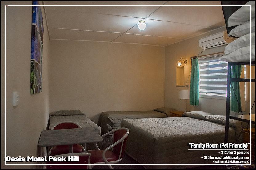 Oasis Motel Peak Hill - Book Pet Friendly Family Room