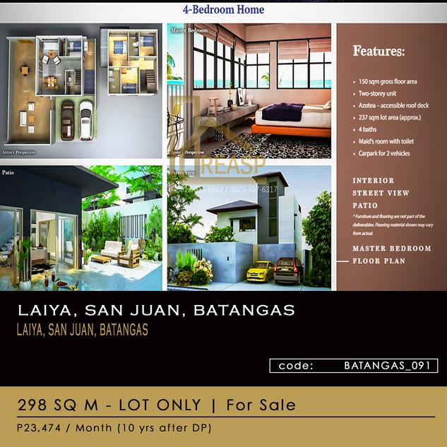 LOT ONLY For Sale at Seafront Residences in Laiya San Juan Batangas