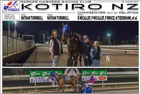 KOTIRO NZ wins at Parkes Harness Trots