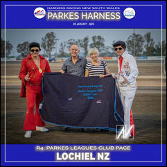 PARKES HARNESS - Race 4 - PARKES LEAGUES CLUB GOLDEN BAR 3YO PACE -  LOCHIEL NZ wins at Parkes Trots.