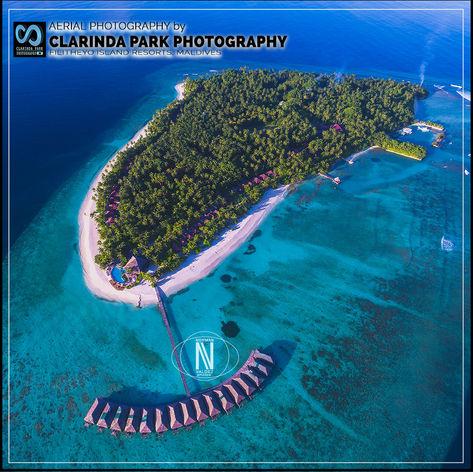 AERIAL PHOTOGRAPHY: Filitheyo Island Resorts, Maldives