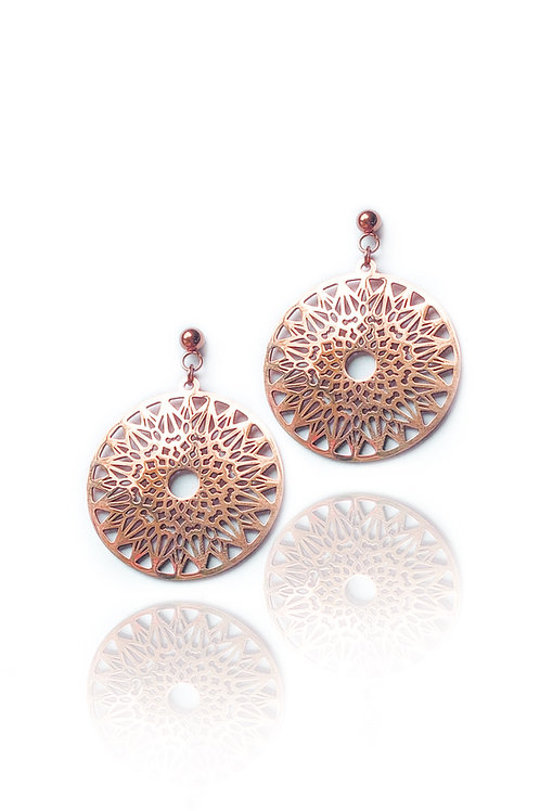 Oxcart Rose Gold Earrings