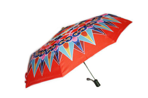 Folding Oxcart Wheel Umbrella