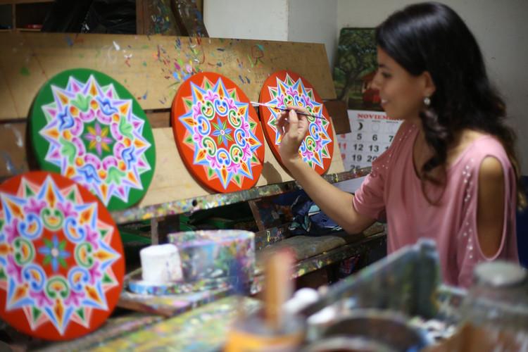 LUNI Founder Sabina Rivas posing with th
