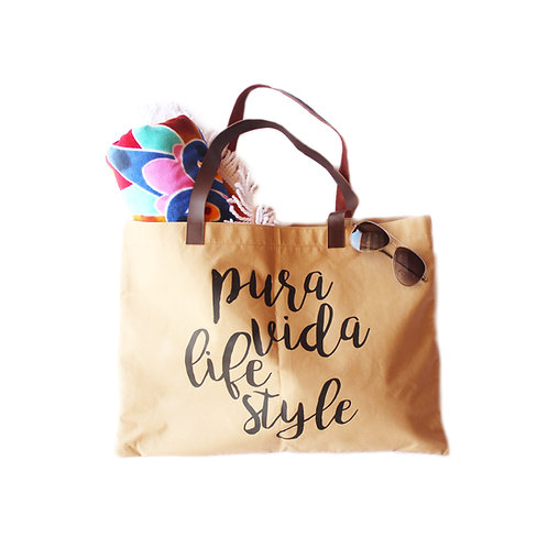 Pura Vida Lifestyle Jute Beach Bag