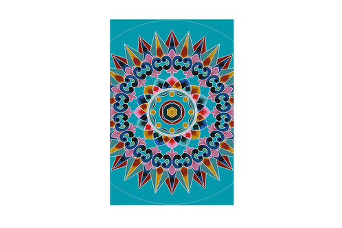 """Pareo """"Turquoise Oxcart Wheel"""""""