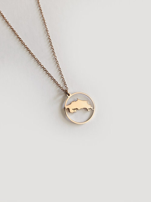 Costa Rica Map Rose Gold Necklace