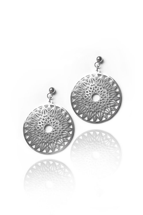 Oxcart Silver Earrings