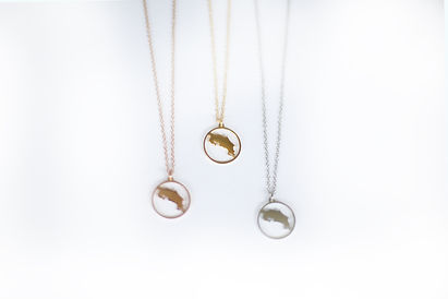Costa Rica Map Jewelry Necklace