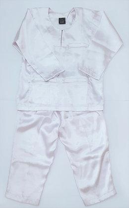 Pinkish White Baju Melayu