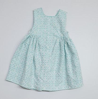V- Back Eyelet Dress