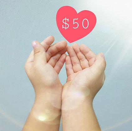 DONATE $50