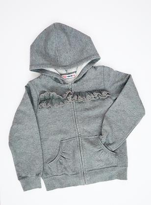 Hooded Fleece Jacket (Grey)