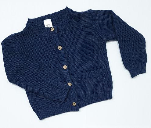 Unisex Blue Cardigan