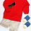 Thumbnail: Pullover Sweater with Collar (Red)