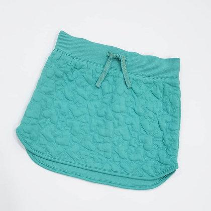 Dip-hem Textured Skirt