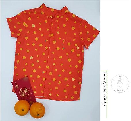 Orange Motif Shirt