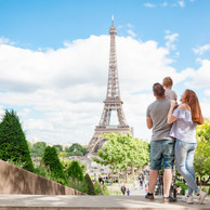 Familia-Torre Eiffel-Jardins do Trocadero