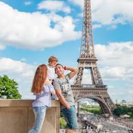 Familia-Torre Eiffel-Trocadero