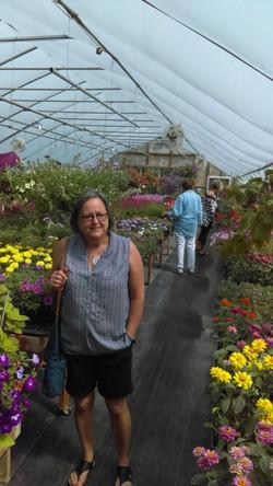 Mavis at Roni Daale greenhouse