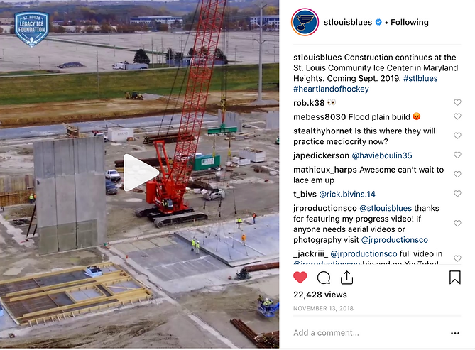 St. Louis Blue Instagram Post