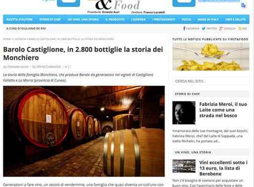 Barolo Castiglione, in 2.800 bottiglie la storia dei Monchiero
