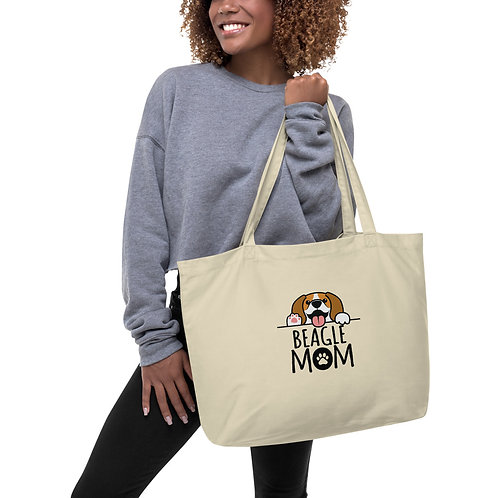 Beagle Mom Large organic tote bag