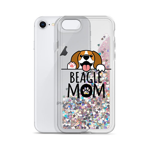 Beagle Mom Liquid Glitter Phone Case