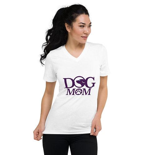 Dog Mom Unisex Short Sleeve V-Neck T-Shirt