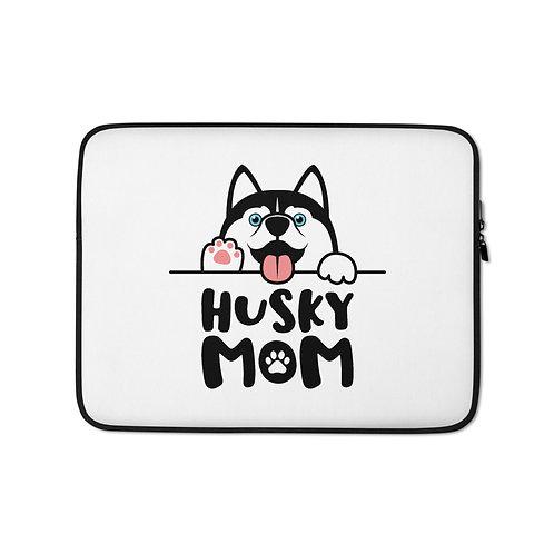 Husky Mom Laptop Sleeve