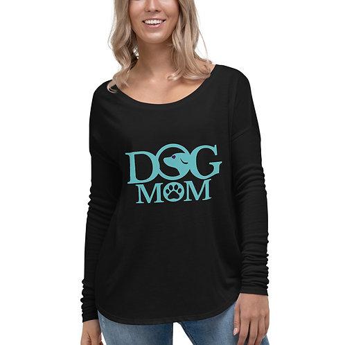 Dog Mom Ladies' Long Sleeve Tee