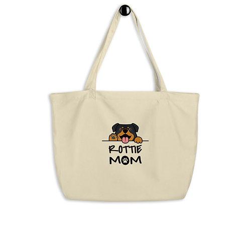Rottie Mom Large organic tote bag