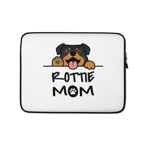 Rottie Mom Laptop Sleeve