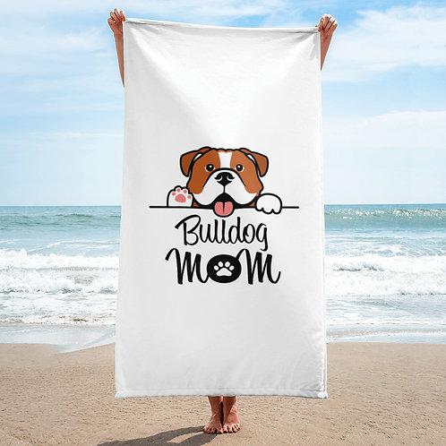 Bulldog Mom Towel
