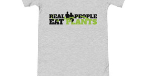 Real People Eat Plants Baby Bodysuits Gray