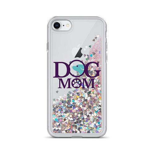 Dog Mom Liquid Glitter Phone Case