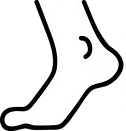 foot-icon-vector-isolated-contour-vector