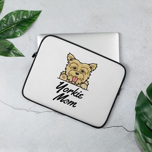 Yorkie Mom Laptop Sleeve