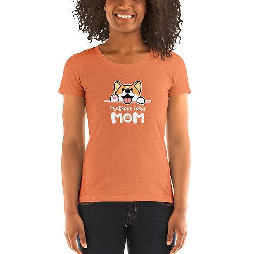 Pembroke Corgi Mom- Ladies' short sleeve t-shirt