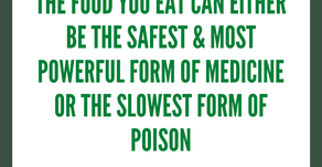 Be careful of what you eat.