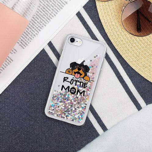 Rottie Mom- Liquid Glitter Phone Case