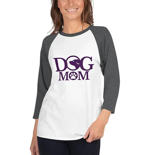 Dog Mom 3/4 sleeve raglan shirt