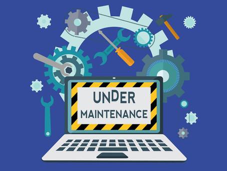How do you do your own website maintenance?