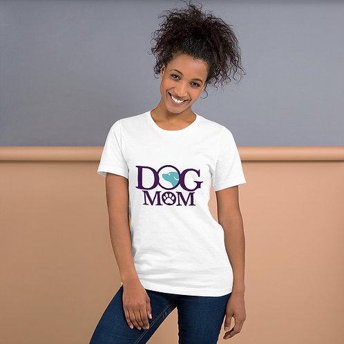Dog Mom Purple Blue Short-Sleeve Unisex T-Shirt
