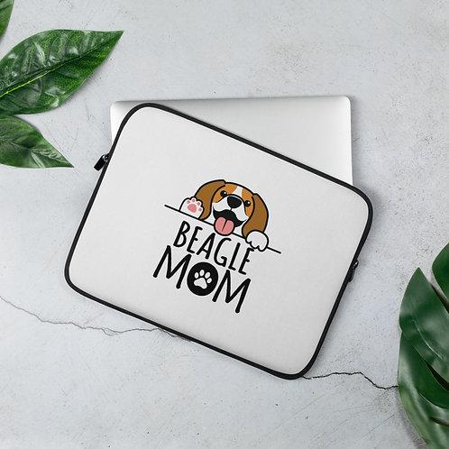 Beagle Mom Laptop Sleeve