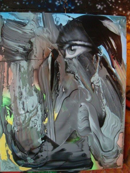 Peinture abstraite sur toile pas cher | Yan Pigeon artiste et peintre