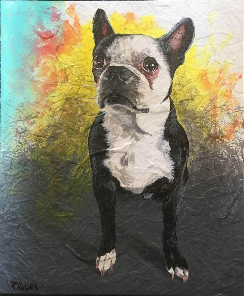 Tableau artiste peintre | Yan Pigeon | Bulldog francais